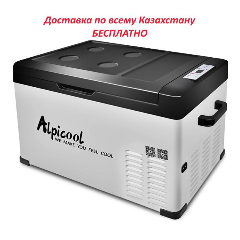КОМПРЕССОРНЫЙ АВТОХОЛОДИЛЬНИК ALPICOOL C30 (30 Л.) 12-24-220В - фото 1