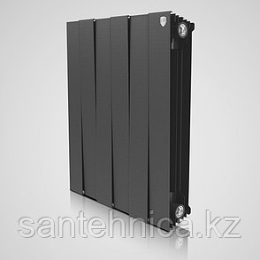 "Радиатор биметаллический ""Royal Thermo"" Piano Forte Noir Sable 591/80/100 мм Россия 189 Вт/2.2 кг, фото 2"