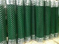 Сетка рабица с полимерным покрытием 100x100x5 раскрой 1 м х 10 м