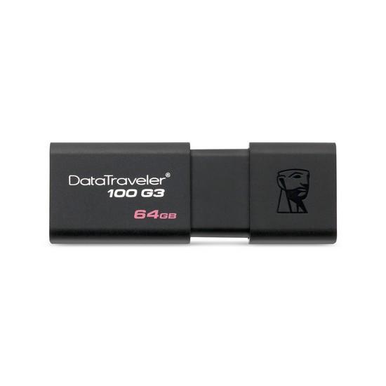 USB-флеш 3.0 Kingston DT100G3/64GB (64GB, Black)