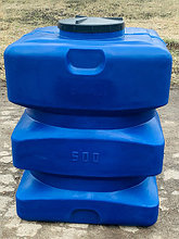 Пластиковая емкость бочка 500 литров синяя