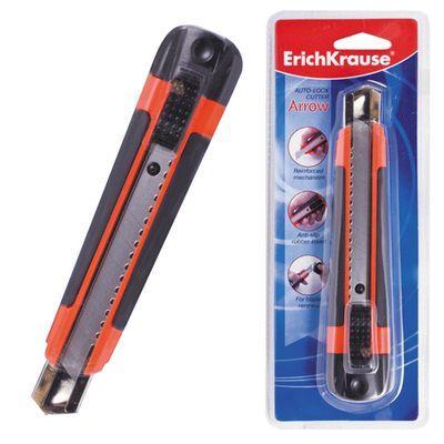 Erich Krause Нож канцелярский Arrow, сменные лезвия 18 мм, в индивидуальной упаковке