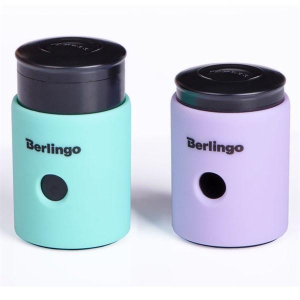 """Точилка Berlingo """"Instinct"""" пластиковая, с контейнером, с одним отверстиям"""
