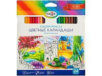 """Карандаши цветные Гамма """"Классические"""", 24 цвета"""
