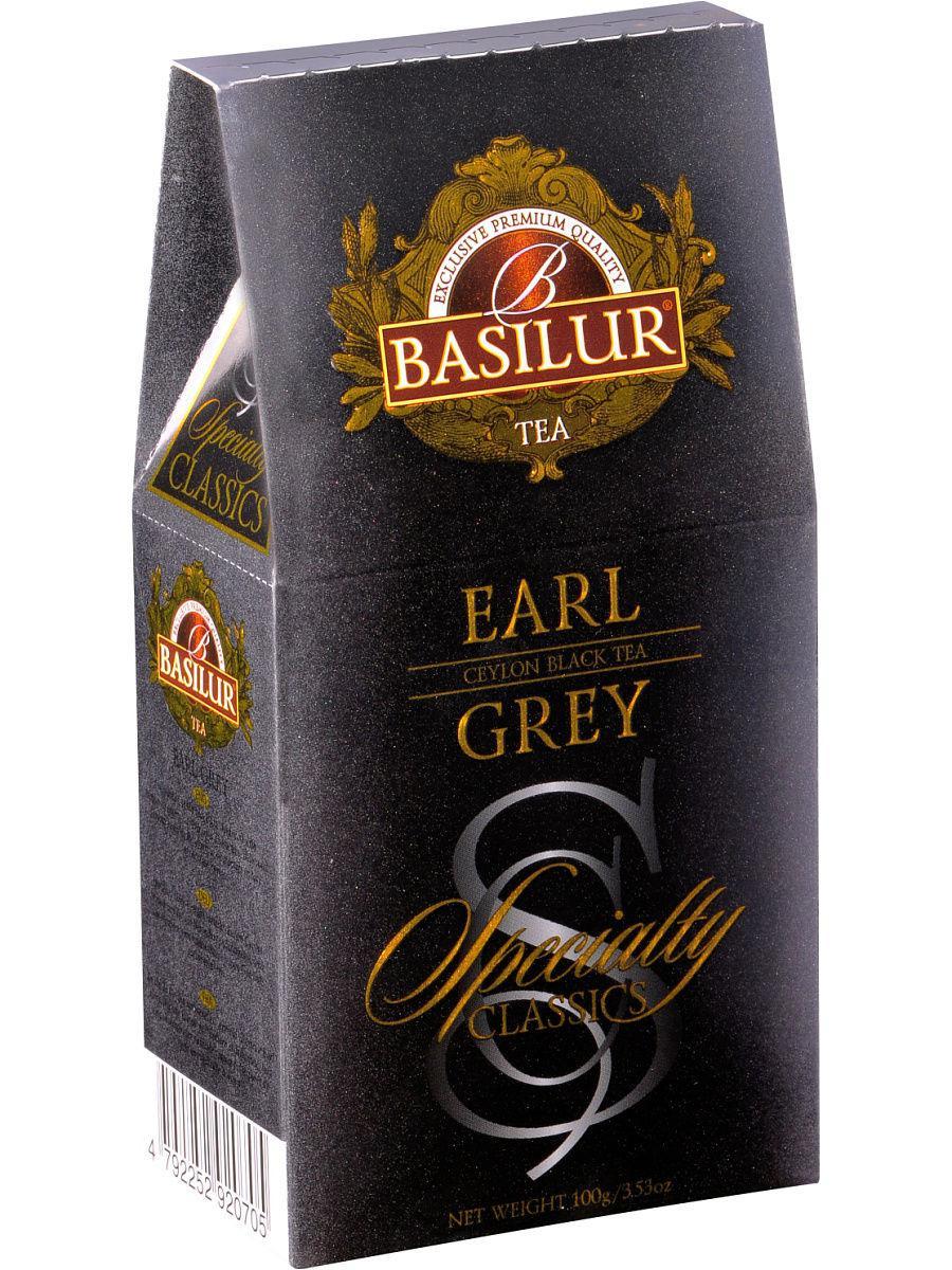 Чай чёрный рассыпной Избранная классика Эрл Грей Earl Grey, 100гр Basilur