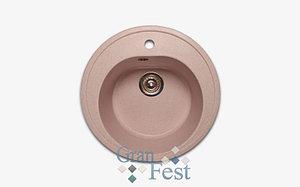 Круглая мойка с отверстием под смеситель GranFest R510