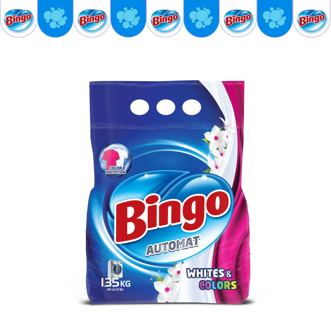 Стиральный порошок Bingo 1.35кг White & Colors
