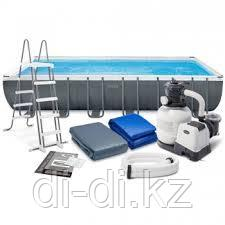 Каркасный сборный бассейн Intex Ultra Frame Pool.          732 х 366 х 132 см
