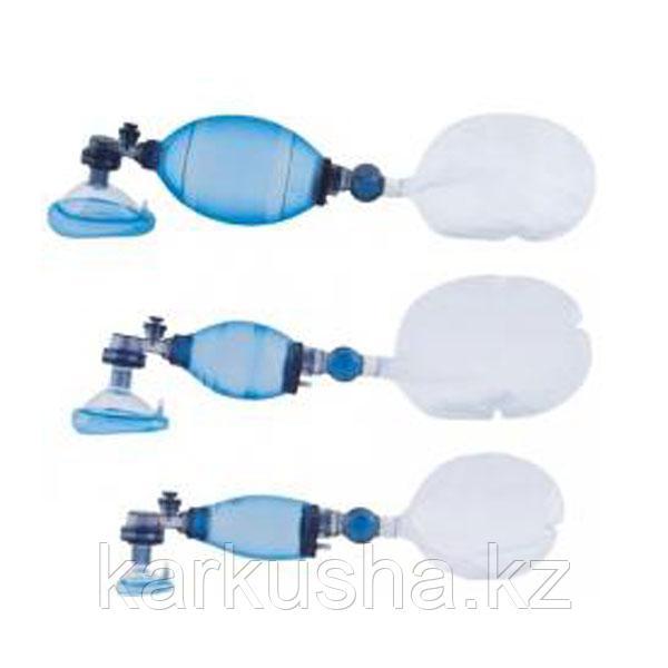 Мешок дыхательный реанимационный типа Амбу, ПВХ, однократного применения, педиатрический