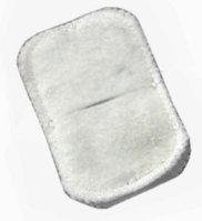 Электрод фланелевый с углеграфитовой тканью прямоугольный 50х100 мм