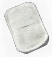 Электрод фланелевый с углеграфитовой тканью прямоугольный 150х200 мм