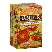 Чай чёрный пакетированный Волшебные фрукты Малина и шиповник Raspberry and Rosehip, 20пак Basilur