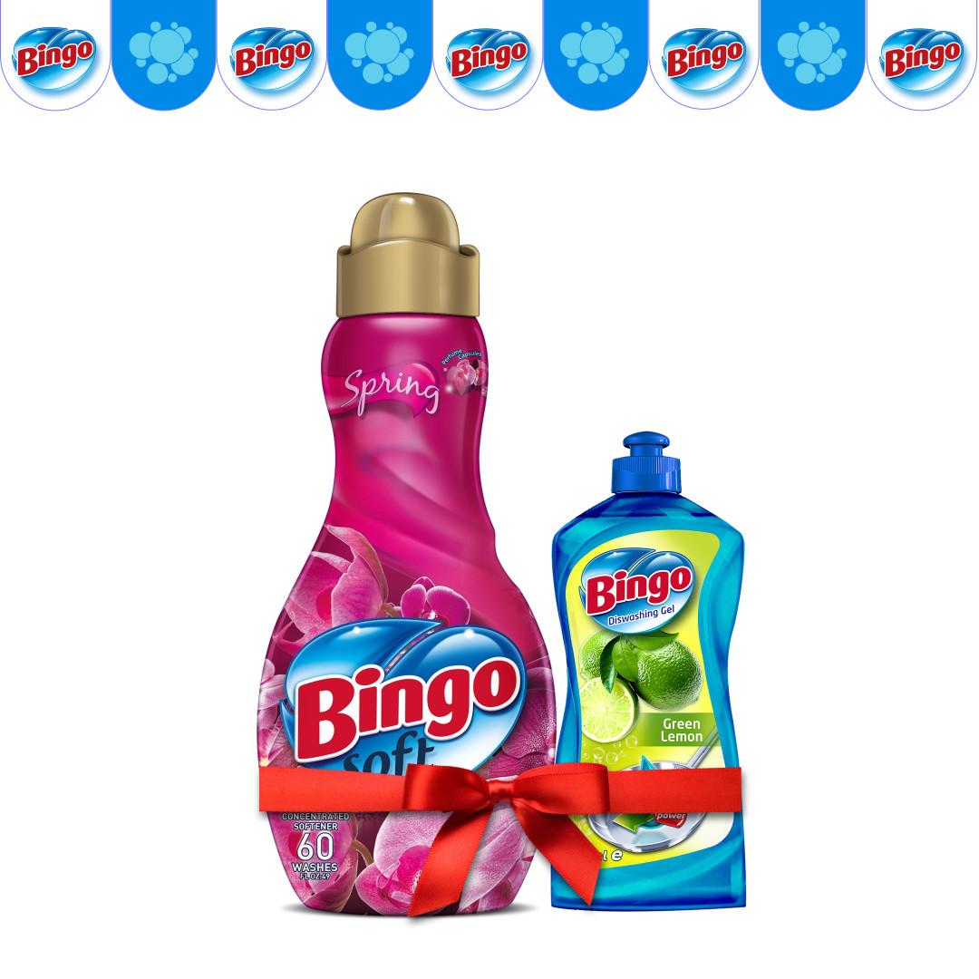 Концентрат для белья Bingo Spring 1440 мл (в подарок Жидкость для посуды)