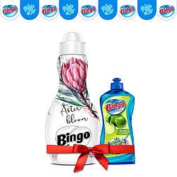 Концентрат для белья Bingo Цветение Астры 1440 мл (в подарок Жидкость для посуды)