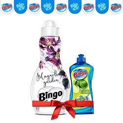Концентрат для белья Bingo Magnolia 1440 мл (в подарок Жидкость для посуды)