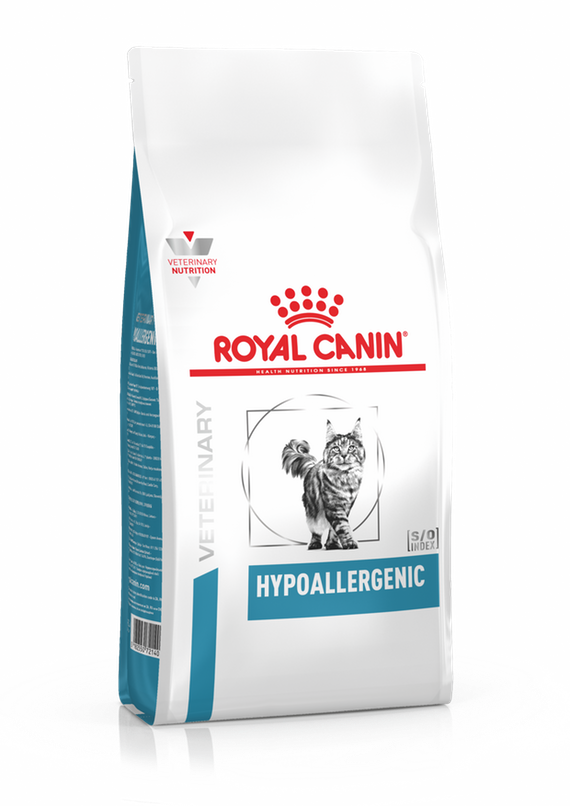 Корм Royal Canin Hypoallergenic для кошек с пищевой алергией или непереносимотью - 500 г