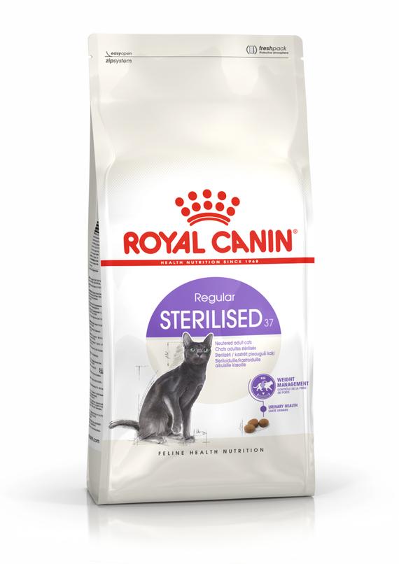 Корм Royal Canin Sterilised 37 для взрослых кастрированных котов и стерилизованных кошек - 15 кг