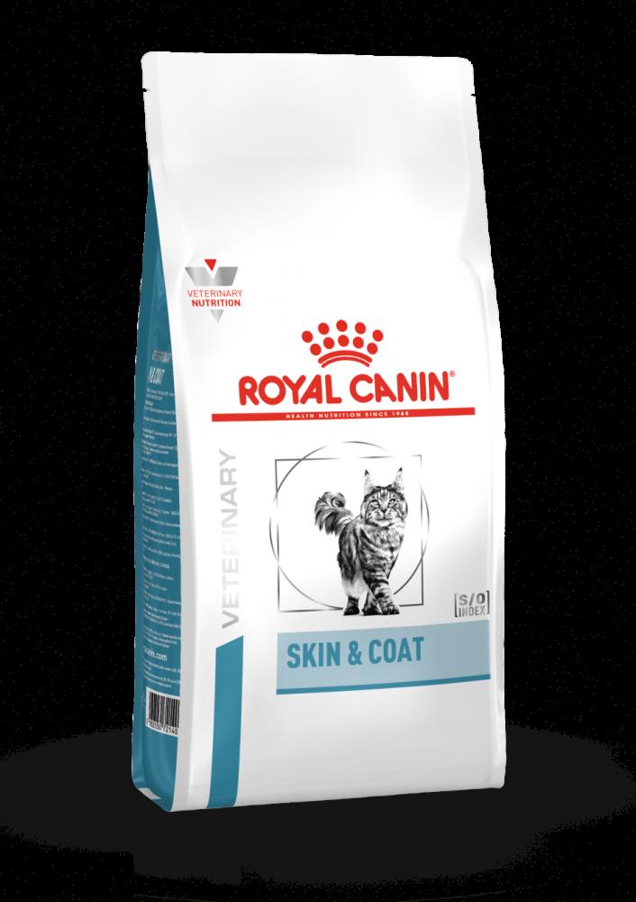 Корм Royal Canin Skin & Coat для кошек при дерматозах и чрезмерном выпадении шерсти - 1.5 кг