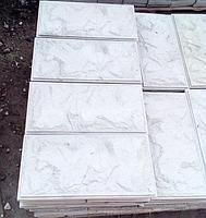 Дикий Камень Серая Фундаментная плитка  , 390х190 мм  вибролитая, фото 1