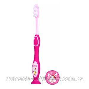 Chicco Зубная щетка розовая, Chicco от 3 до 6 лет.