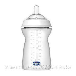 Chicco Бутылочка для кормления, Chicco, Natural Feeling, силикон, 330 мл, от 6 месяцев