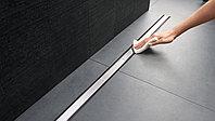 Трап подрезной Geberit Clean Line в сборе(SET),размер 300-900 мм, с темным металлом по краю