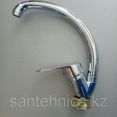 Смеситель для кухни Санлайт С-8046 высокий гусак, фото 2