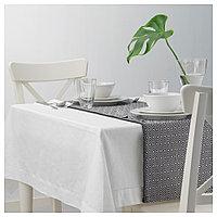 ГОДДАГ Дорожка настольная, черный, белый, 35x130 см, фото 1