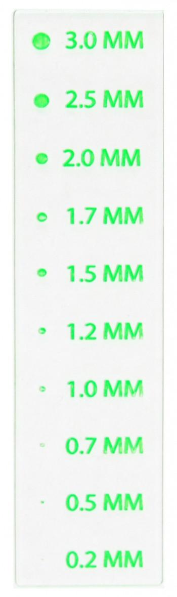 Панель прозрачная Magnaflux для оценки размеров индикаций дефектов