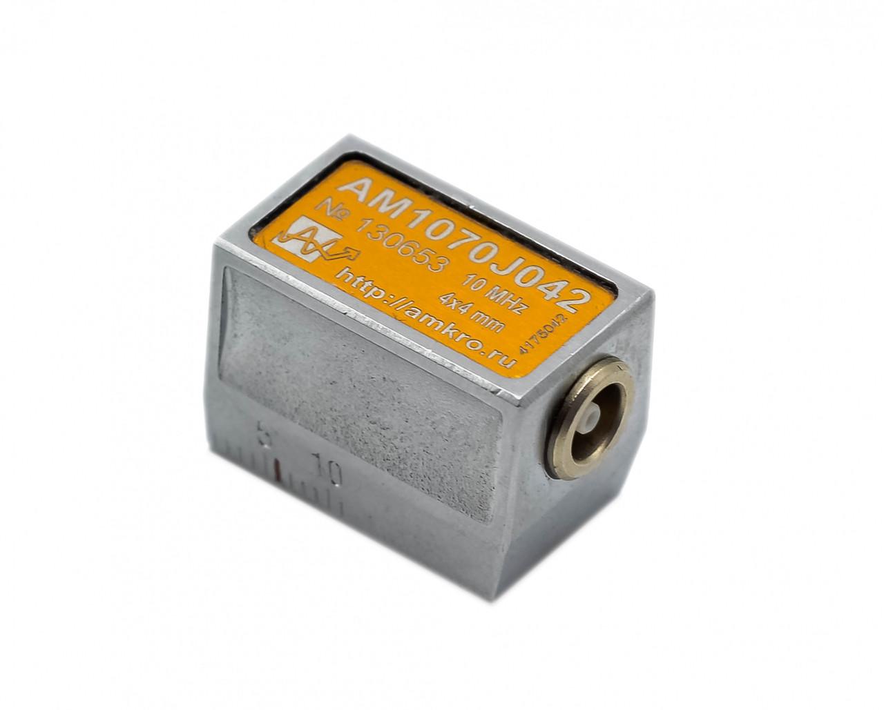 Наклонные совмещенные притертые преобразователи AM1070Jxx 10 МГц 70 град