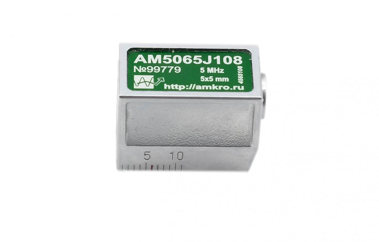 Наклонные совмещенные притертые преобразователи AM5065Jxx 5 МГц 65 град