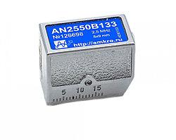 Наклонный совмещенный притертый преобразователь AN2550Bxx 2,5 МГц с углом 50град