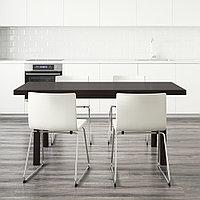 ВЭСТАНБИ/ВЭСТАНО / БЕРНГАРД Стол и 4 стула, темно-коричневый, Кават белый, 170 см, фото 1