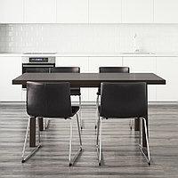 ВЭСТАНБИ/ВЭСТАНО / БЕРНГАРД Стол и 4 стула, темно-коричневый, Кават темно-коричневый, 170 см, фото 1