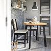 ГАМЛАРЕД Стол и 2 стула, светлая морилка антик, коричнево-чёрный