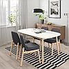ВЕДБУ / ВЕДБУ Стол и 4 стула, белый, береза, 160x95 см