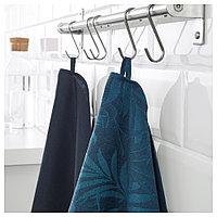 ВИЛДКАПРИФОЛ Полотенце кухонное, синий лист, 50x70 см, фото 1