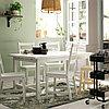 НОРДВИКЕН / НОРДВИКЕН Стол и 4 стула, белый, белый, 152/223x95 см