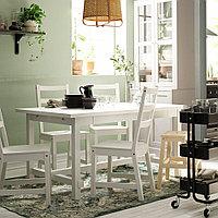 НОРДВИКЕН / НОРДВИКЕН Стол и 4 стула, белый, белый, 152/223x95 см, фото 1