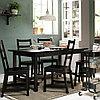 НОРДВИКЕН / НОРДВИКЕН Стол и 4 стула, черный, черный, 152/223x95 см