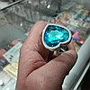 Серебряная анальная пробочка с алмазом-сердечком.  82*34 мм., фото 2