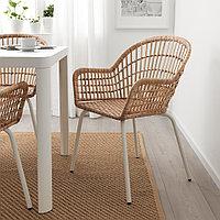 НИЛЬСОВЕ Легкое кресло, ротанг, белый, фото 1