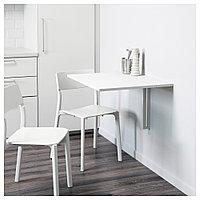 НОРБЕРГ Стол откидной стенного крепежа, белый, 74x60 см, фото 1