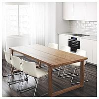 МОРБИЛОНГА Стол, дубовый шпон коричневая морилка, 220x100 см, фото 1