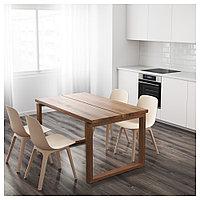 МОРБИЛОНГА Стол, дубовый шпон коричневая морилка, 140x85 см, фото 1