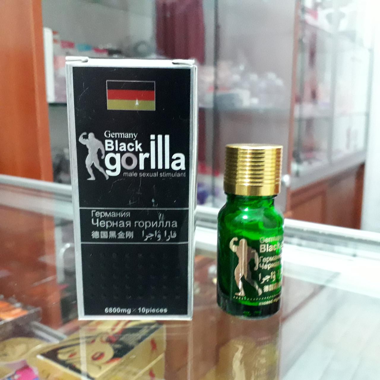 Черная Горилла препарат для потенции. (1 баночка-10 капсул)