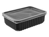 Контейнер пластиковый 18х13х5см цена с крышкой 750мл PP черный