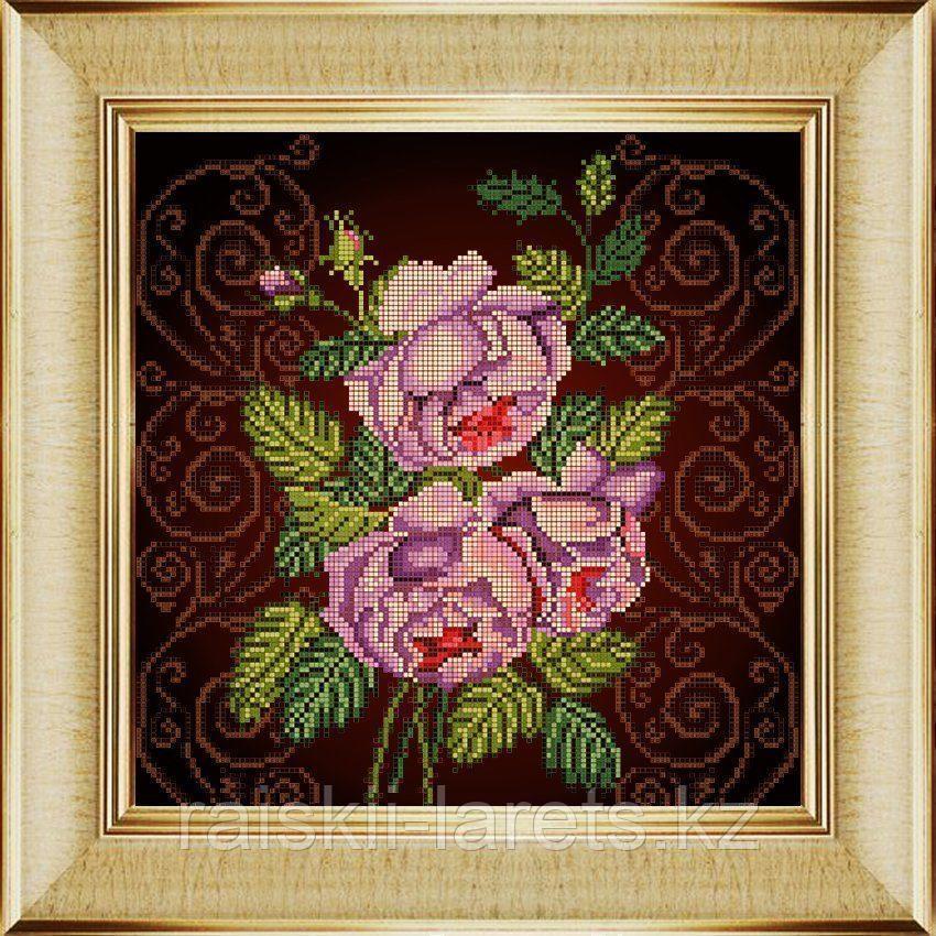 """Схема для вышивания бисером ТМ Божья коровка """"Бархатная роза"""" Арт.0023"""
