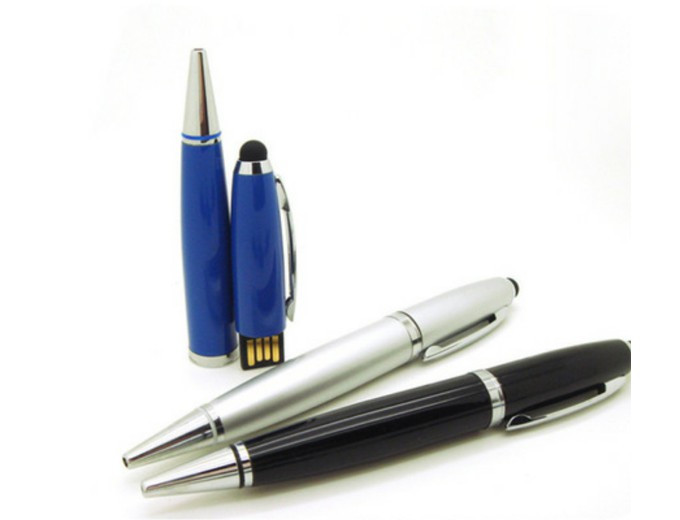 USB флеш память на 16 Gb в форме ручки (черная паста)