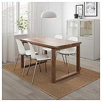 МОРБИЛОНГА / ЛЕЙФ-АРНЕ Стол и 4 стула, коричневый, белый, 140x85 см, фото 1